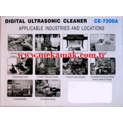 ce-7200a ultrasonic cleaner usage areas