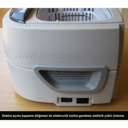 cd-4821 Ultrasonic Cleaner air intake and on-off button